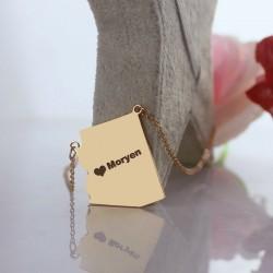 Kartenform-Halsketten