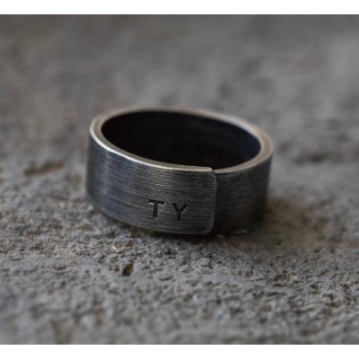 Mittel Sterlingsilber Beton Ring