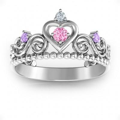 Personalisierte Prinzessin Charming Tiara Ring