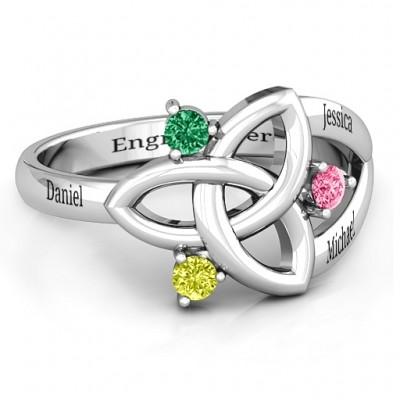 Siobhán keltischer Knoten Ring