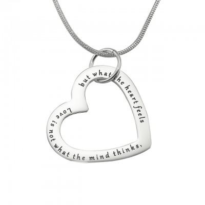 Immer in meinem Herz Halskette Personalisierte Sterling Silber