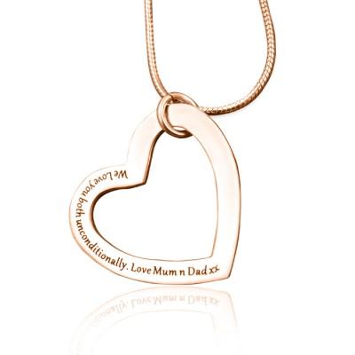 Immer in meinem Herz Halskette Personalisierte 18ct Rose Gold überzogen