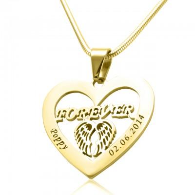 Personalisierte Engel in meinem Herz Halskette 18 karätigem Gold überzogen