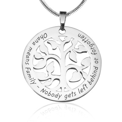 Personalisierte Ohana Tree Sterling Silber * Limited Edition