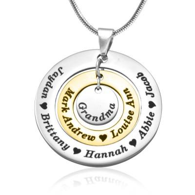 Personalisierte Kreise der Liebe Halskette ZWEI TON Gold, Silber,
