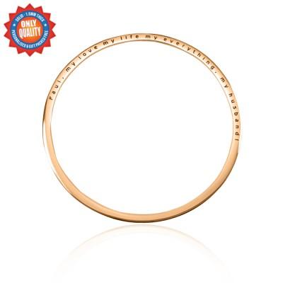 Personalisierte Klassische Bangle 18ct Rose Gold überzogen