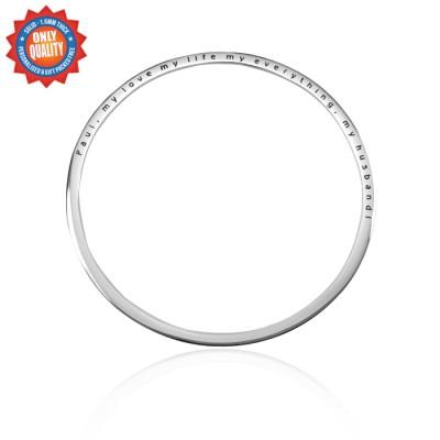 Personalisierte Klassische Armband Sterling Silber