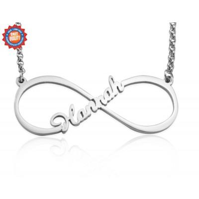 Personalisierte Einzel Unendlichkeit Namenskette Sterling Silber