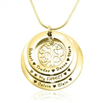 Personalisierte Familie Triple Liebe 18 karätigem Gold überzogen