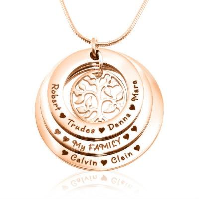 Personalisierte Familie Triple Liebe 18ct Rose Gold überzogen