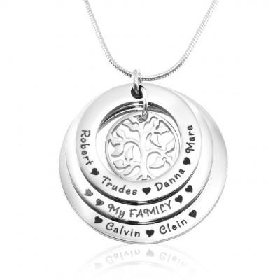 Personalisierte Familie Triple Liebe Sterling Silber