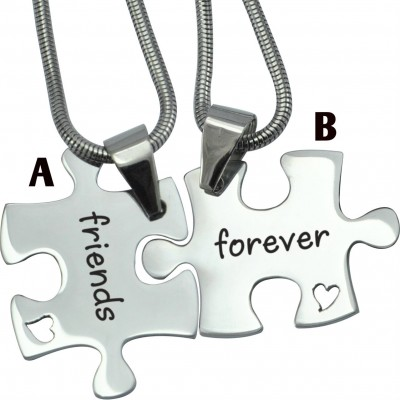 Für immer Freunde personalisierte Puzzle Zwei Ketten