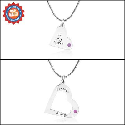 Personalisierte Mütter Herz Anhänger Halskette Set