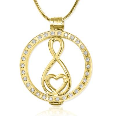 Personalisierte Gold Diamonte Halskette mit 18 Karat Gold überzogen Unendlichkeit