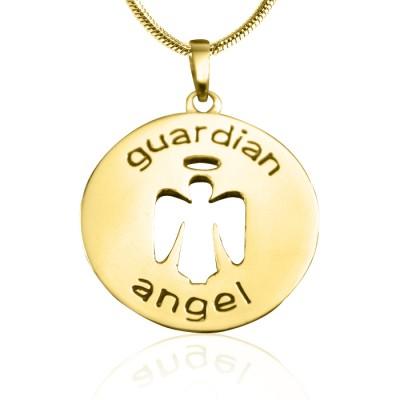 Personalisierte Schutzengel Halskette 1 18 Karat Gold überzogen