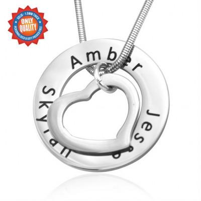 Personalisierte Herz Washer Halskette