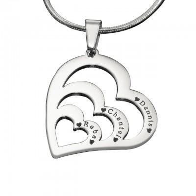 Personalisierte Herzen der Liebe Halskette Sterlingsilber