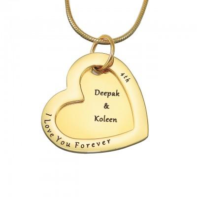 Personalisierte immer Halskette Liebe 18 karätigem Gold überzogen