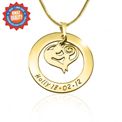 Personalisierte Mutter Liebe Halskette 18 karätigem Gold überzogen