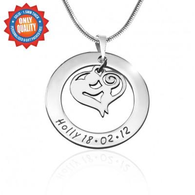 Personalisierte Mutter Liebe Halskette Sterlingsilber