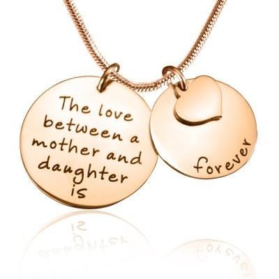 Personalisierte Mutter immer Halskette 18ct Rose Gold überzogen