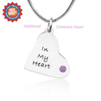 Personalisierte Zusätzliche Kinder Herz Anhänger