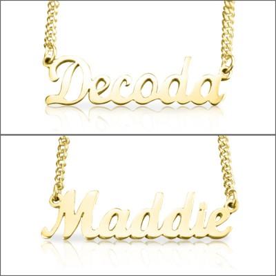 Personalisierte Namenskette 18 karätigem Gold überzogen