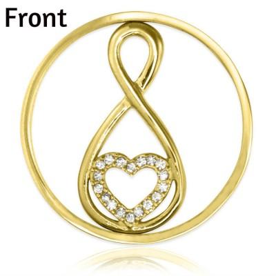 Personalisierte Gold Unendlichkeit Diamonte INSERT ONLY
