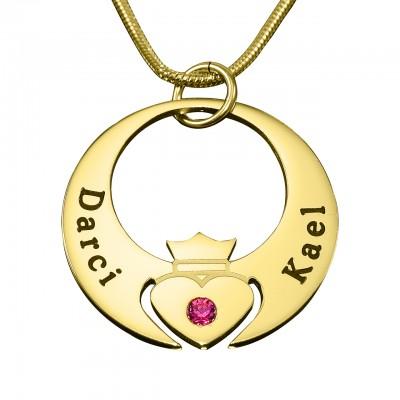 Personalisierte Queen of My Heart Halskette 18 karätigem Gold überzogen