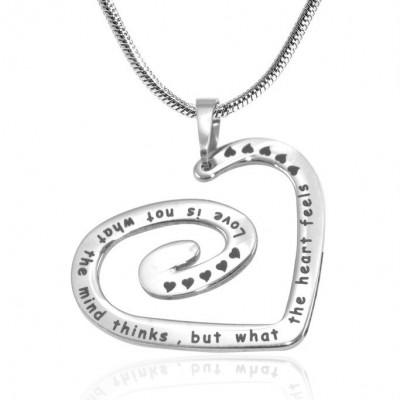 Personalisierte Strudel meiner Herz Halskette Sterlingsilber