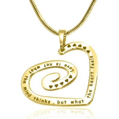 Personalisierte Strudel meines Herz Halskette 18 karätigem Gold überzogen