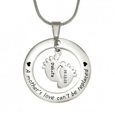 Personalisierte Cant Ersetzte Halskette Be Single Feet 18mm Sterling Silber