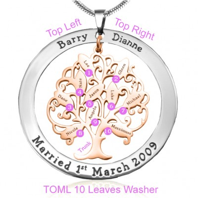 Personalisierte Tree of My Life Waschmaschine 10 Two Tone Rose Goldbaum