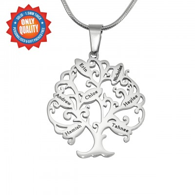 Personalisierte Tree of My Life Halskette 7 Sterling Silber
