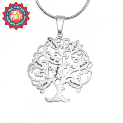Personalisierte Tree of My Life Halskette 8 Sterling Silber