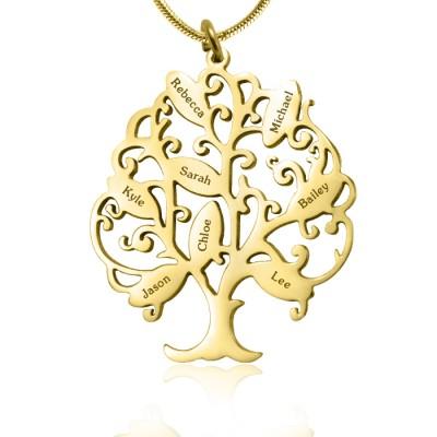 Personalisierte Tree of My Life Halskette 8 18 Karat Gold überzogen