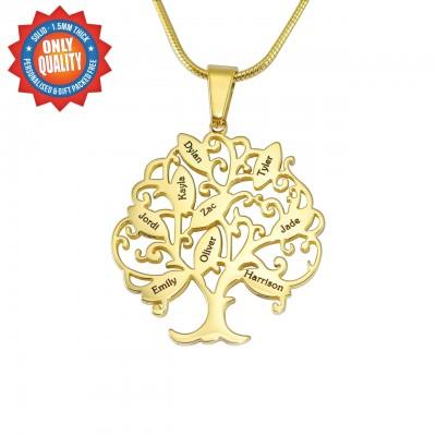 Personalisierte Tree of My Life Halskette 9 18 Karat Gold überzogen