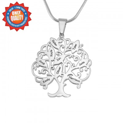 Personalisierte Tree of My Life Halskette 9 Sterling Silber