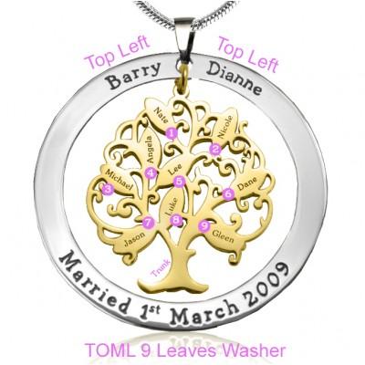 Personalisierte Tree of My Life Waschmaschine 9 Two Tone Goldbaum