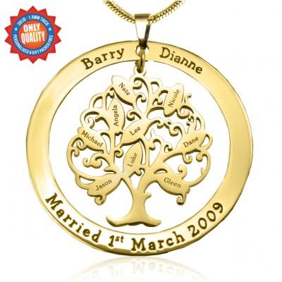 Personalisierte Tree of My Life Waschmaschine 9 18 Karat Gold überzogen