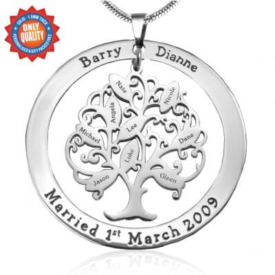 Personalisierte Tree of My Life Waschmaschine 9 Sterling Silber