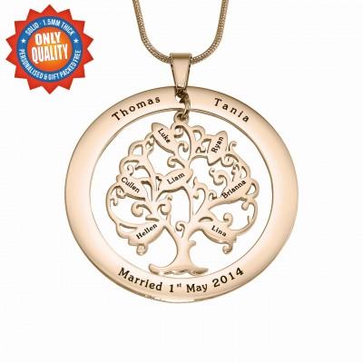 Personalisierte Tree of My Life Waschmaschine 7 18 Karat Gold überzogen