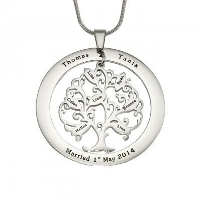 Personalisierte Tree of My Life Waschmaschine 7 Sterling Silber