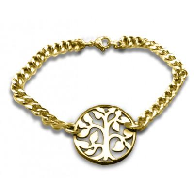 Personalisierte Baum Armband 18 karätigem Gold überzogen