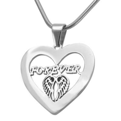 Personalisierte Engel in meinem Herz Halskette Sterlingsilber
