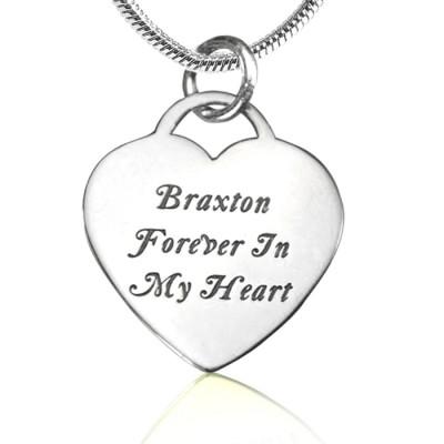 Für immer in meinem Herzen Halskette Personalisierte Sterling Silber