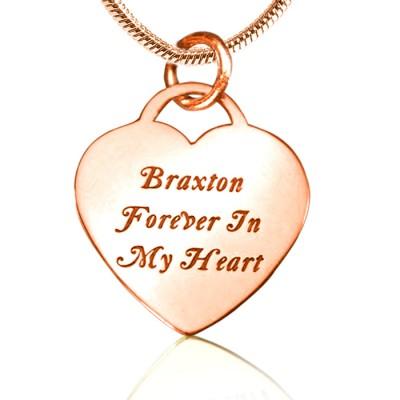 Für immer in meinem Herzen Halskette Personalisierte 18ct Rose Gold überzogen
