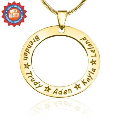 Personalisierte Circle of Trust Halskette 18 karätigem Gold überzogen