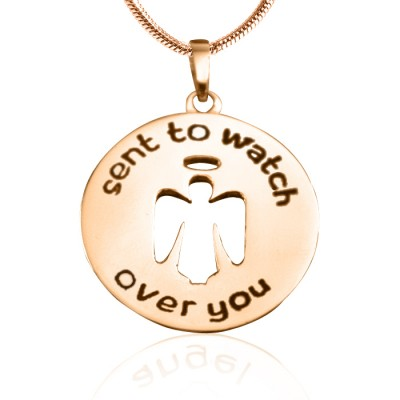 Personalisierte Schutzengel Halskette 2 18 Karat Gold überzogen