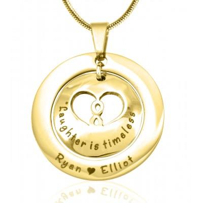 Personalisierte Unendlichkeit Dome Halskette 18 karätigem Gold überzogen